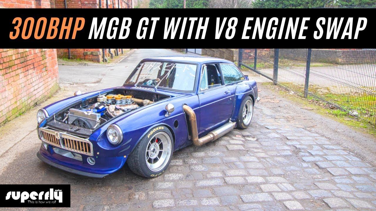 300bhp Custom Mgb Gt With Jaguar Engine Swap Youtube