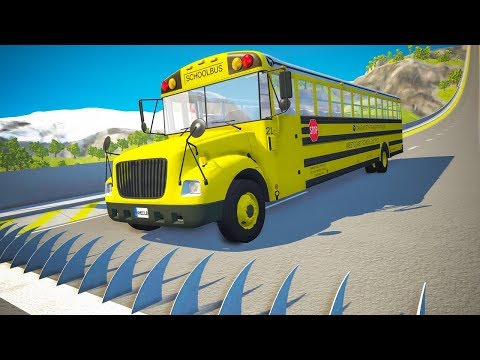 spikes-embedded-in-ramp-against-cars-jumping-crashes-#2---beamng.drive