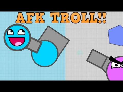 NEW DIEP.IO AFK TROLL!! // The Meanest Trolling EVER // (Diepio)