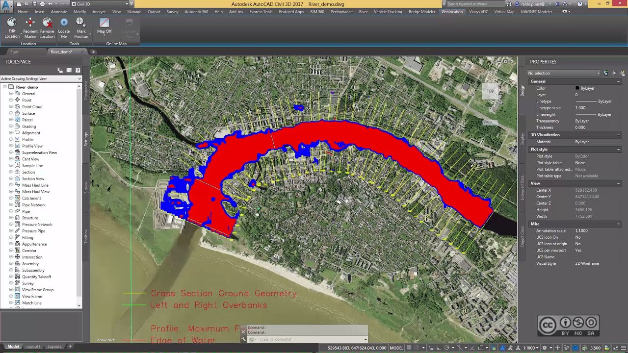 AutoCAD Civil 3D 2017 - River and Flood Analysis (overview)