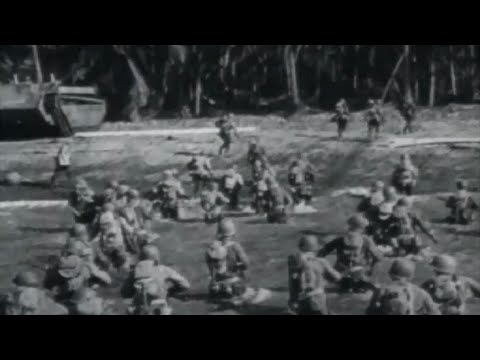 US Troops Invade Caballo and Cebu Islands Philippines WW2 Combat Footage