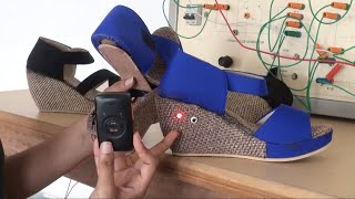 Electric Shock + GPS Sandals developed to help Women's Safety issues in India