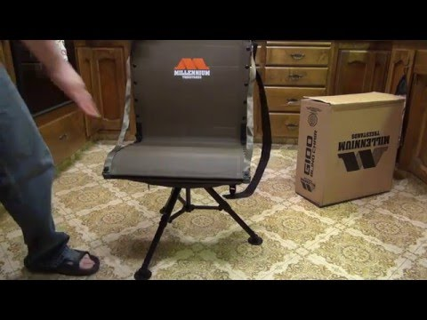 ground blind chair leather and wood millennium tree stands g100 youtube