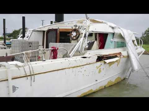 Damaged Boats in Port Lavaca