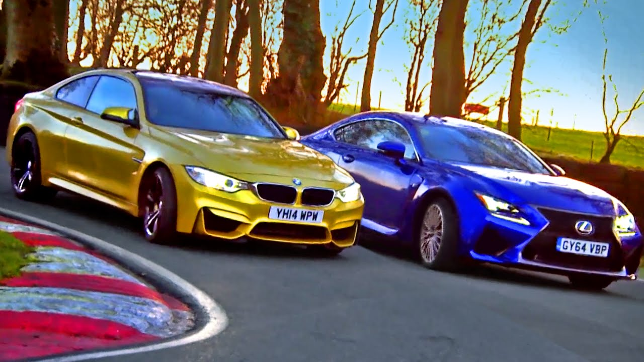 Which Is Quickest? BMW M4 vs Lexus RC F (3/3) - Fifth Gear - YouTube