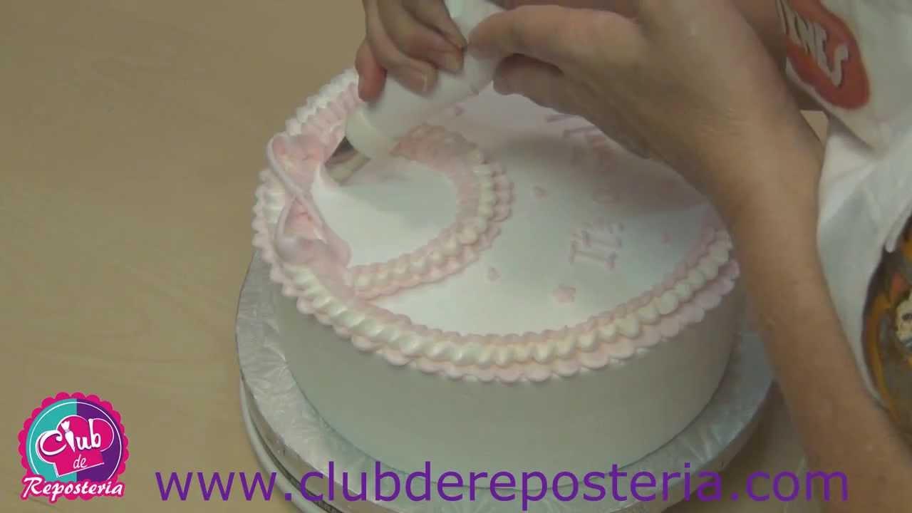 C mo decorar una torta para beb con boquilla de p talo for Cosas para decorar tu pieza