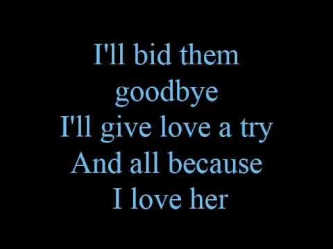 Because I love her - lyrics
