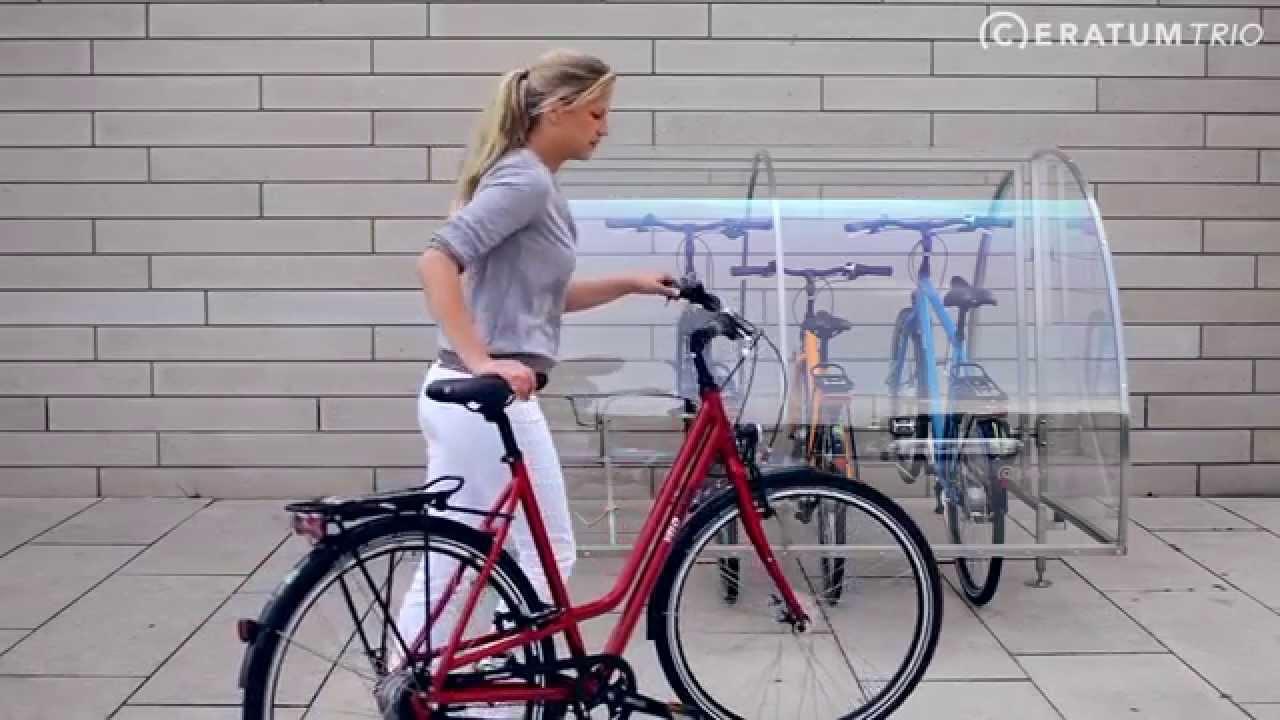 fahrradgarage ceratum trio f r 2 4 fahrr der youtube. Black Bedroom Furniture Sets. Home Design Ideas