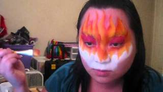 I Wonder How - Orange and Yellow Face Painting tutorial Thumbnail