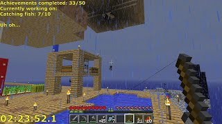 Minecraft Skyblock All Achievements Speedrun In 2h59   Timelapse Hardcore  Ncluding Bloopers