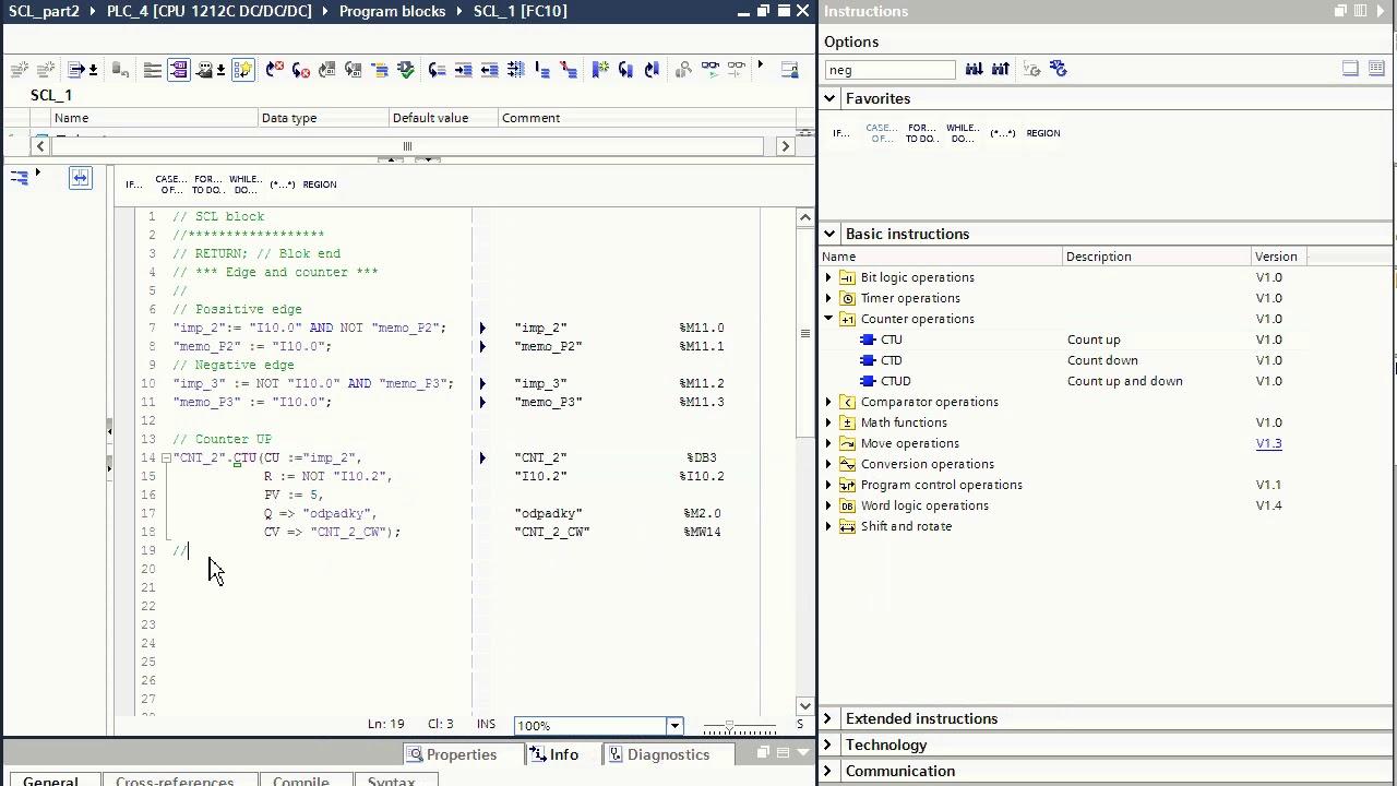TIA Portal SCL programování PLC Simatic, část 2 / TIA Portal SCL  programming Simatic S7, part 2
