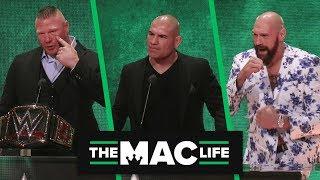 Cain Velasquez & Tyson Fury wrestling matches announced | WWE Crown Jewel Presser Highlights