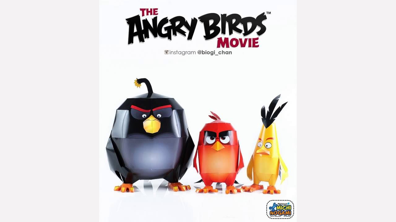 the angry bird movie papercraft youtube