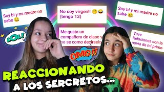 REACTING TO THE SECRETS OF MY FOLLOWERS 😱 * INTIMATE SECRETS * Mellizas Channel