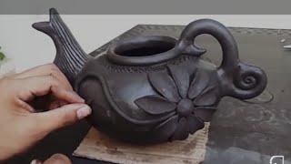 Cómo hacer una tetera de barro? teapot of clay - barro negro, cerámica, manualidades