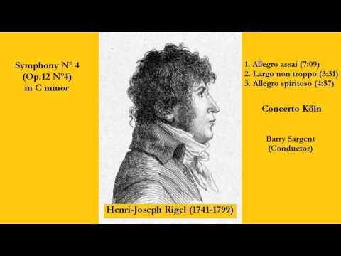 Henri Joseph Rigel (1741-1799) - Symphony Nº 4 (Op.12 Nº 4) in C minor