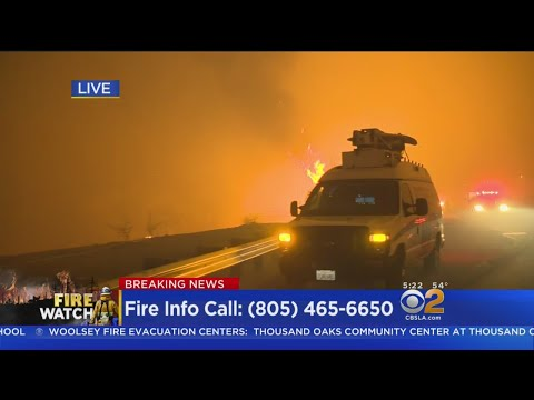 The Woolsey Fire Jumps The 101 Freeway