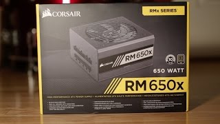 CORSAIR RM650X POWER SUPPLY - UNBOXING