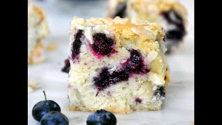 Blueberry-almond Coffee Cake Recipe By Cooking With Manuela