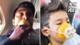 Airplane oxygen masks were used incorrectly during emergency landing | New York Post thumbnail