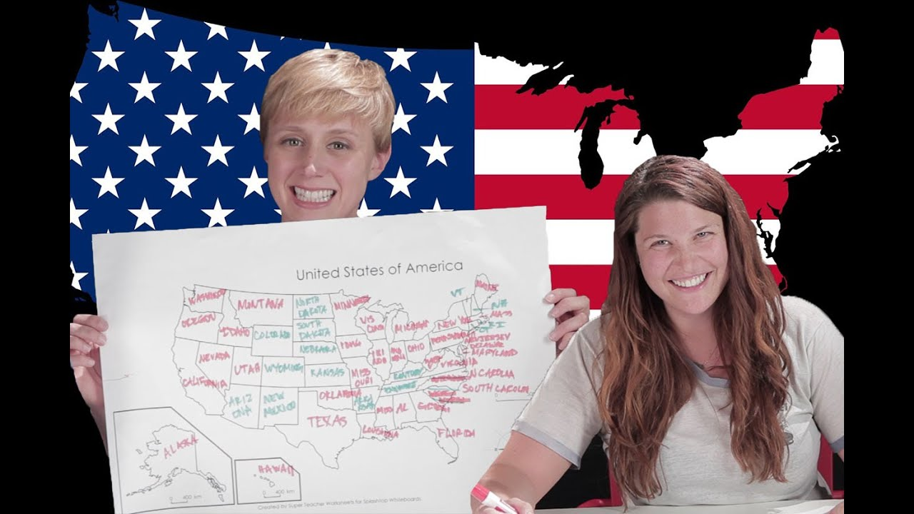 Adults Label The 50 States - YouTube