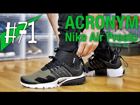 quality design aba31 1f764  71 - ACRONYM x Nike Air Presto Olive - on feet - sneakerkult - YouTube