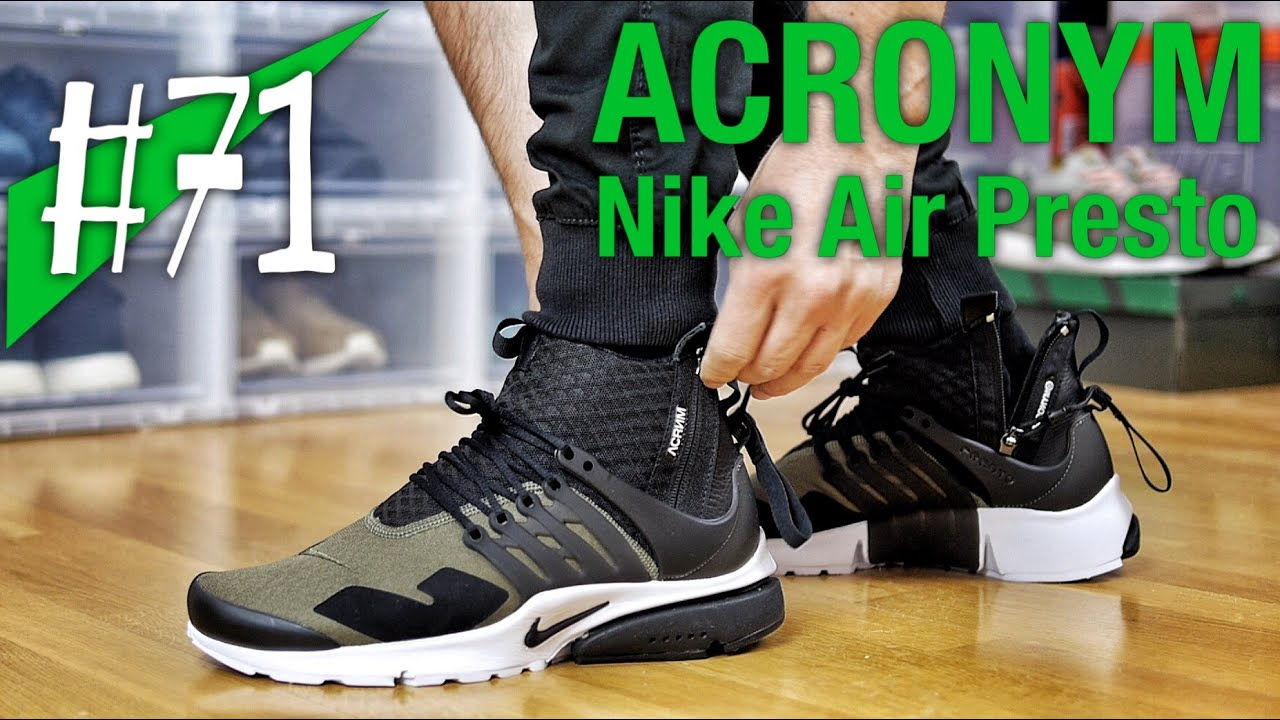 official photos dcb26 a9a96  71 - ACRONYM x Nike Air Presto Olive - on feet - sneakerkult