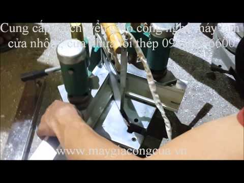 Hướng dẫn sử dụng máy hàn mini cầm tay công trình cửa nhựa lõi thép