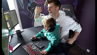 Mini Jake Paul Plays FORTNITE At The TEAM 10 HOUSE!!