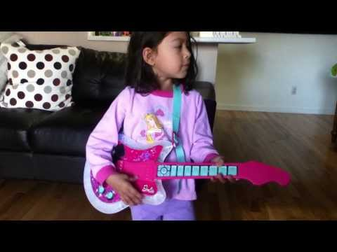 Waking Up On Her Birthday With A Barbie Popstar Guitar