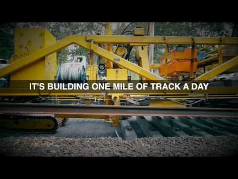 LIRR Double Track Project: New Track Construction Machine