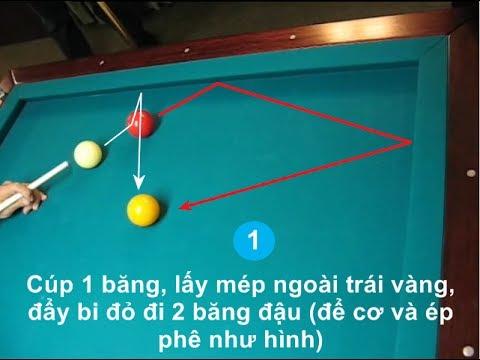 [Bida phăng] 11 bài tập đánh 1 băng tạo thế gom bi – one cushion shots of carom billiards