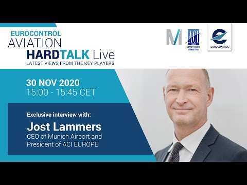 Aviation Hardtalk Live with Munich Airport CEO, Jost Lammers
