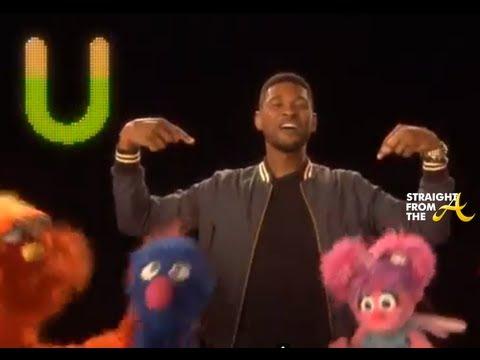 Usher Teaches ABC Song on Sesame Street