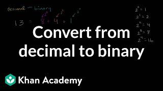 Converting From Decimal To Binary   Applying Mathematical Reasoning   Pre-Algebra   Khan Academy