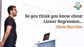 So you think you know about linear regression ...