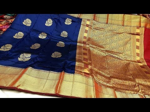 282ff3bf6b Kanchipuram Banarasi Katan Silk Saree Models || Wedding Silk Sarees designs