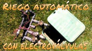 CÓMO FUNCIONA UN RIEGO AUTOMÁTICO DE ELECTROVÁLVULAS
