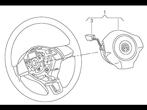 Не работает сигнал руля [Volkswagen POLO ]Обзор сломанного  шлейфа.