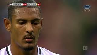 GOL: Frankfurt 1-2 Dortmund