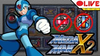MEGAMAN X2 - Sem pegar heart tanks, energy tanks, armadura e usando somente X-Buster