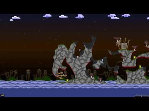 Worms World Party 2D. Червячки! Завоевание званий. Смертельная битва. Мировая вечеринка