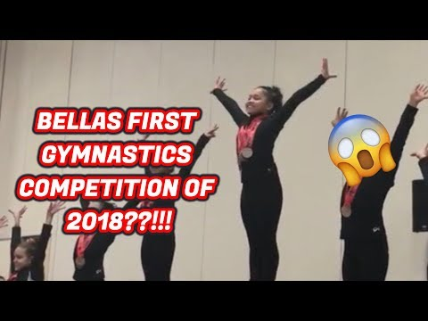 BELLAS FIRST GYMNASTICS COMPETITION OF 2018??!!  Asia Monet Vlogs 2018