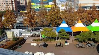 2018년 11월 28일_2층 테라스 몽골천막 교체
