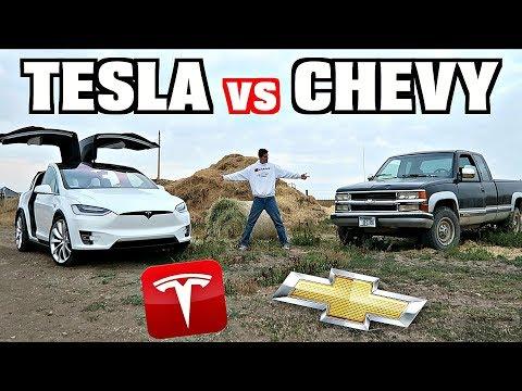 Tesla Model X vs. Pickup Truck...The Ultimate Ranch Vehicle??