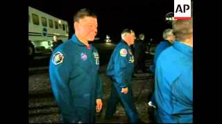 Space Shuttle Endeavour returns to Earth, astronauts