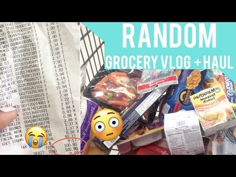 RANDOM GROCERY VLOG + HAUL || Riding the Campus's Transit