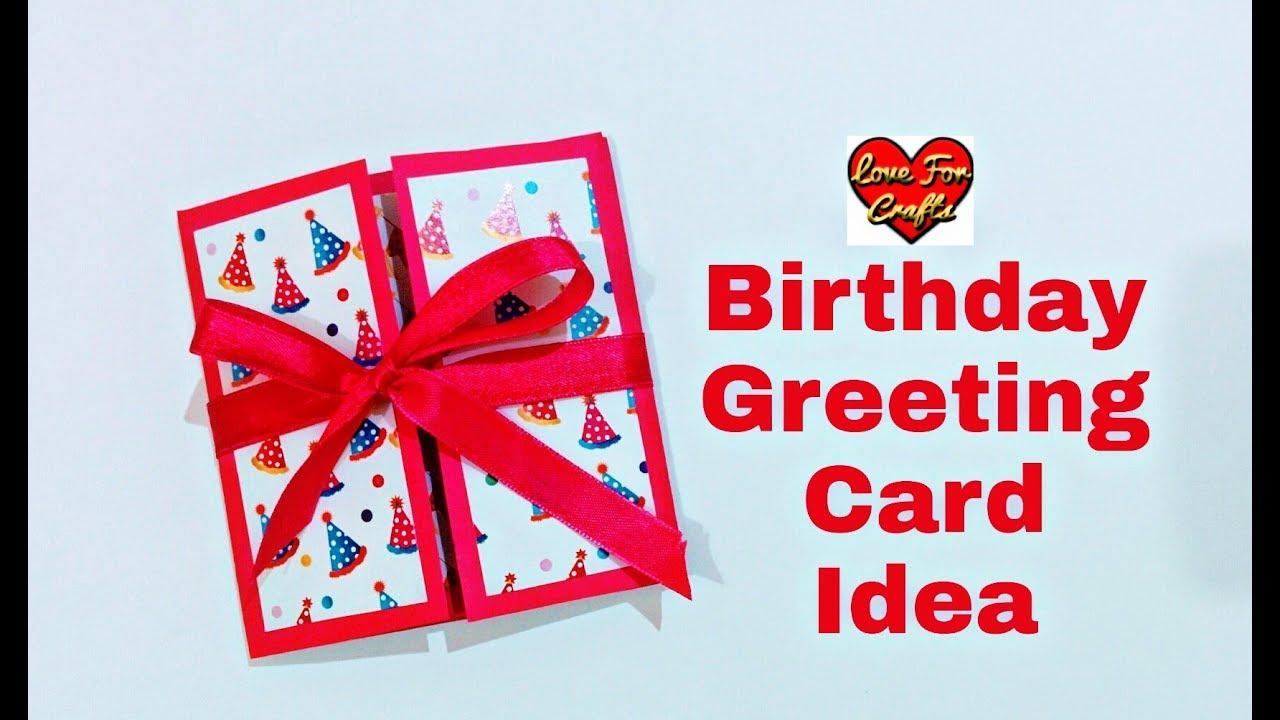 Birthday Gift Idea Handmade Birthday Greeting Card For Friends Youtube