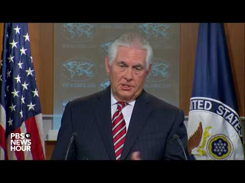 WATCH: Sec. Tillerson holds news briefing at State Department