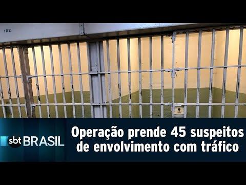 Megaoperação prende 45 suspeitos de envolvimento com tráfico em SC e RS | SBT Brasil (24/07/18)